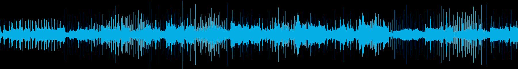 笛を使った和風の民族音楽の再生済みの波形