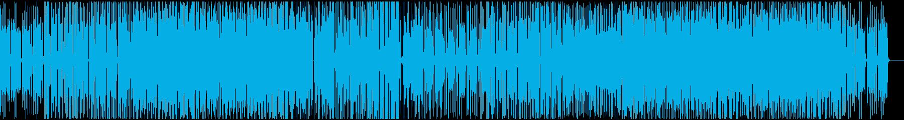 ギターとオルガンのファンク/ヒップホップの再生済みの波形