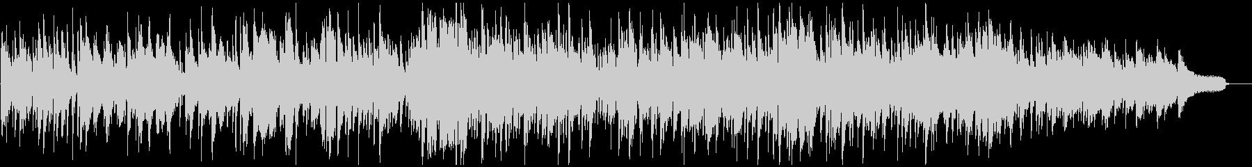 柔らかボサノバ、暖かい太い音色のメロデイの未再生の波形