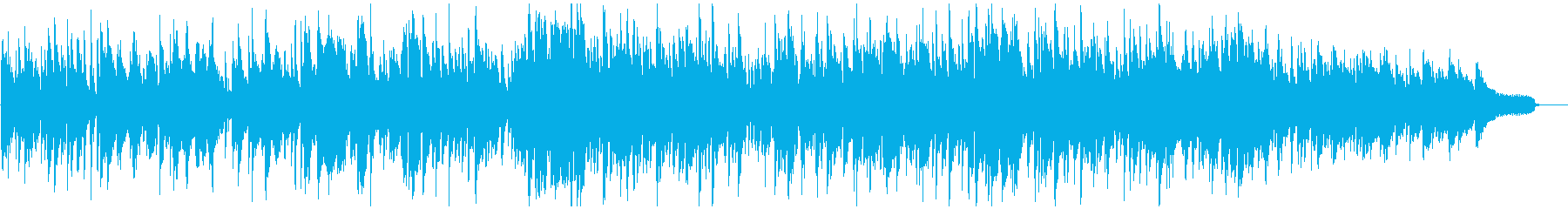 柔らかボサノバ、暖かい太い音色のメロデイの再生済みの波形