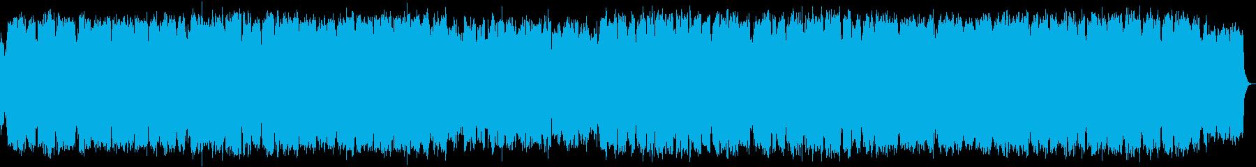 風の竹笛のヒーリング音楽の再生済みの波形