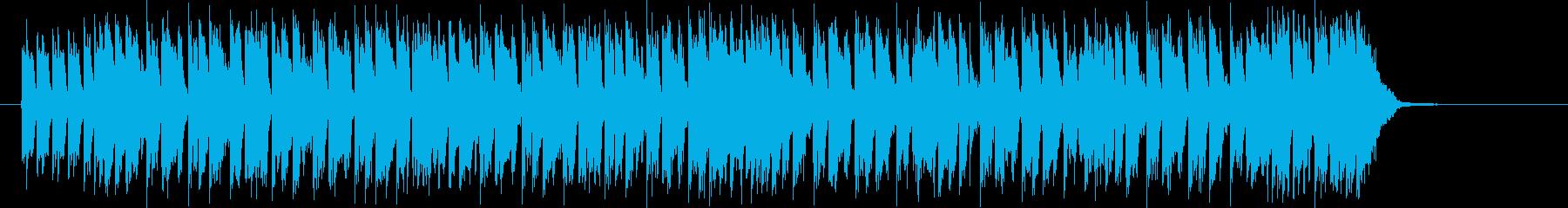 かっこよくてコミカルなデジタルポップの再生済みの波形