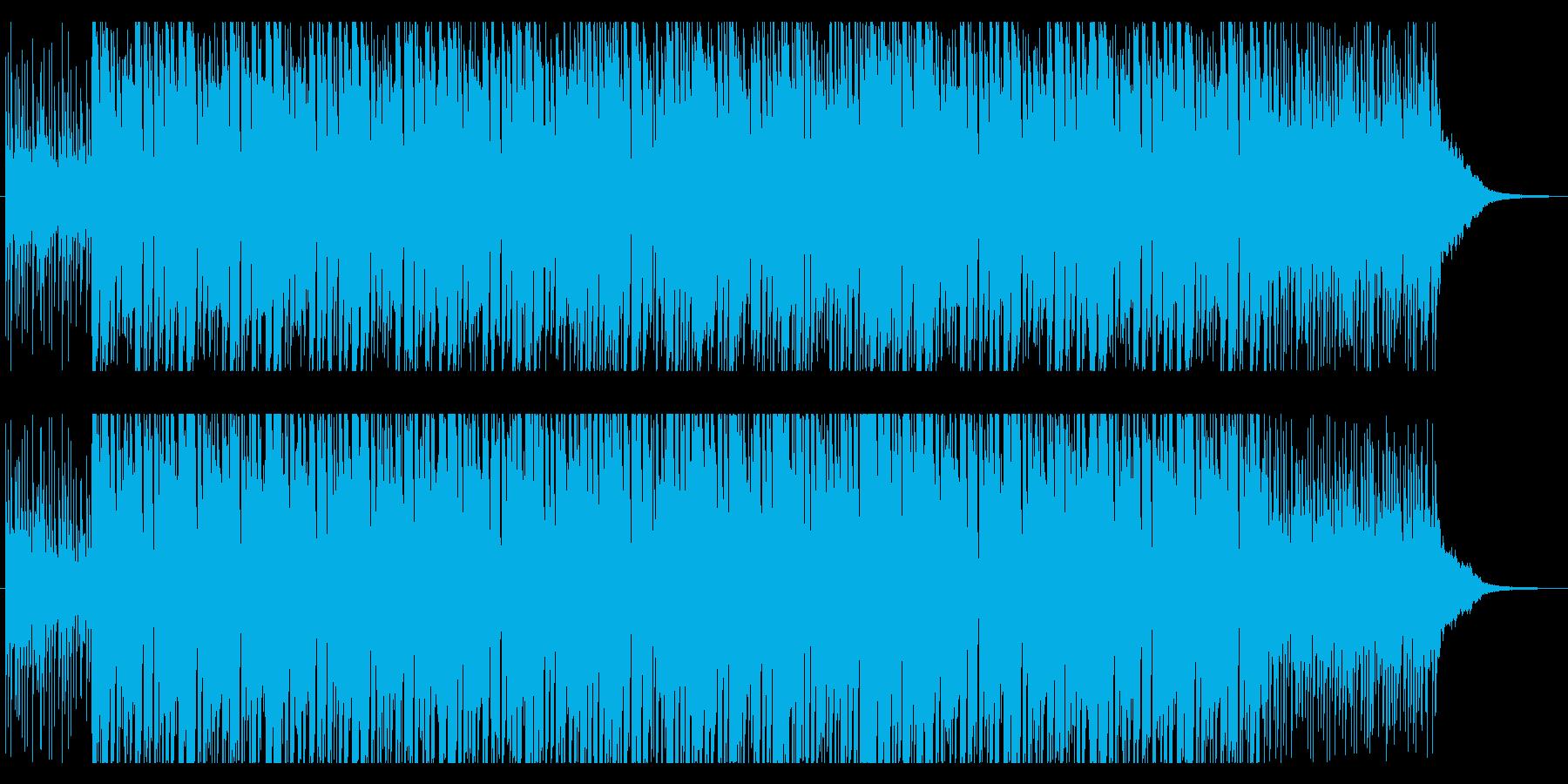 ギターが主役のロックンロールナンバーの再生済みの波形