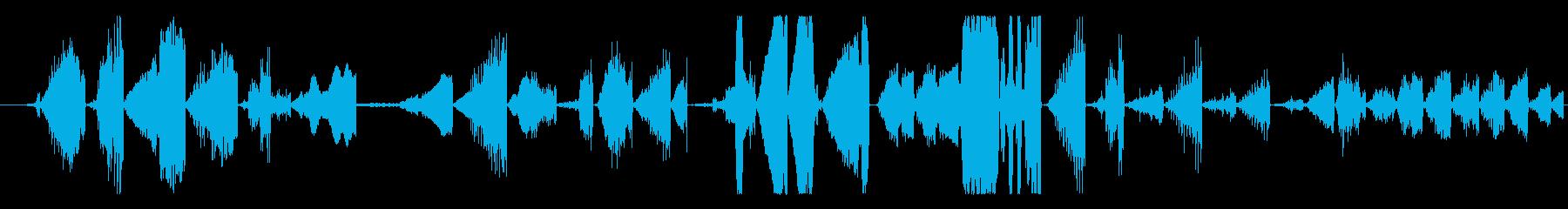 イメージ グリッチトークFX 10の再生済みの波形
