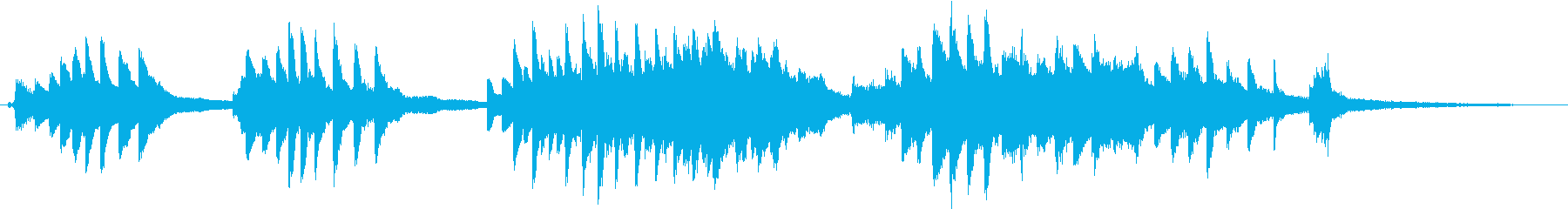 ピアノと弦楽の麗しいハーモニーのバラッドの再生済みの波形
