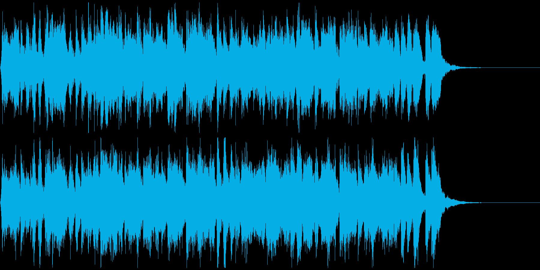 陽気なラテン生フルート◆CM向け15秒曲の再生済みの波形