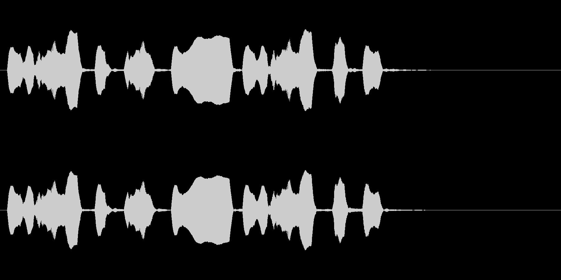 ジングル リコーダー 軽快 愉快の未再生の波形