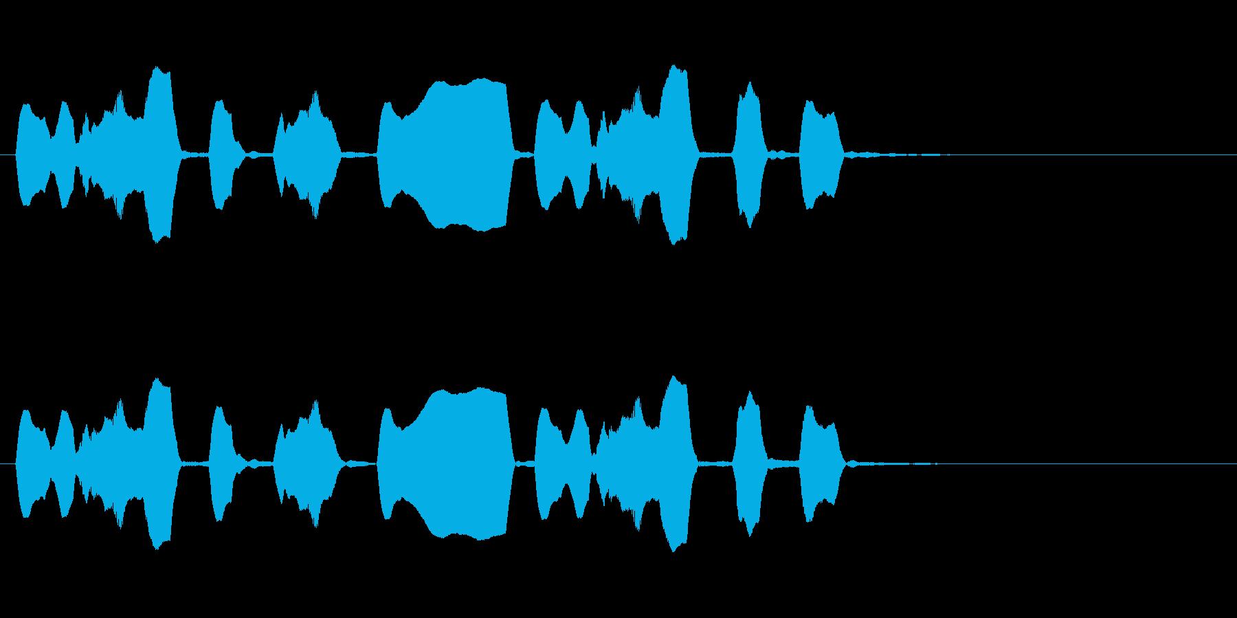 ジングル リコーダー 軽快 愉快の再生済みの波形