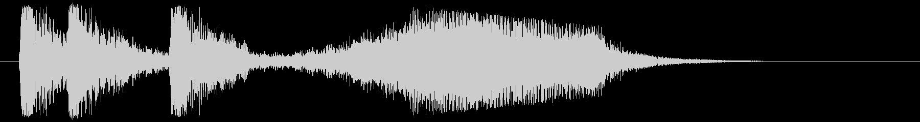 ストリングス ピッチカートジングルの未再生の波形