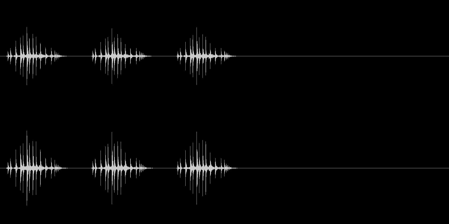 ギリギリギリ(リールを巻く、三回、釣り)の未再生の波形