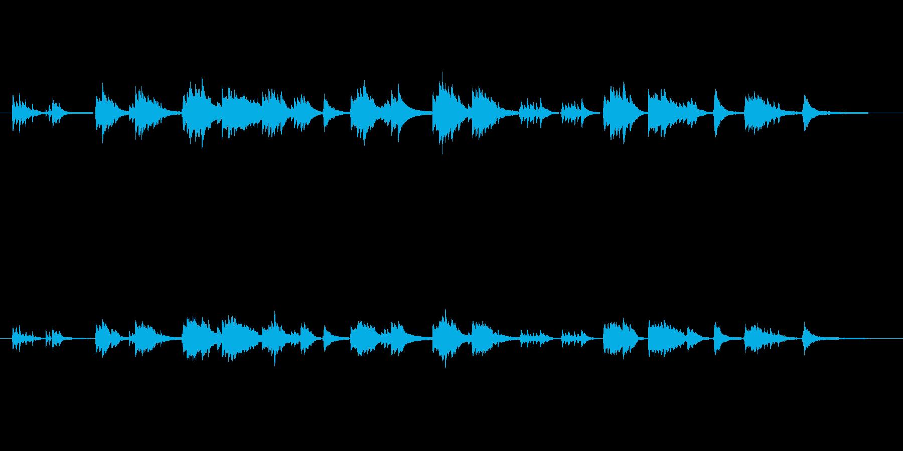映像作品全般の静かなシーンや回想シーン…の再生済みの波形