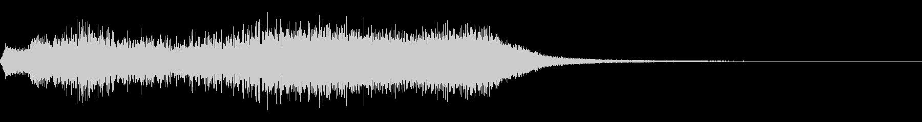 フィルタードスイープフライバイの未再生の波形
