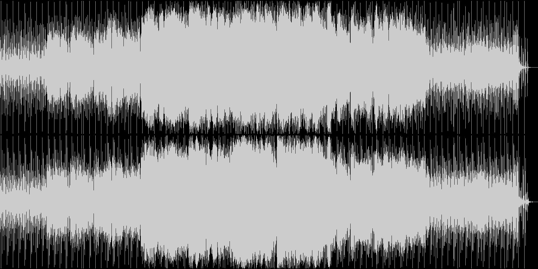 ふわふわしたイメージのBGMの未再生の波形