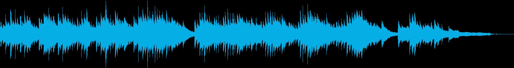 ピアノイントロジングルの再生済みの波形