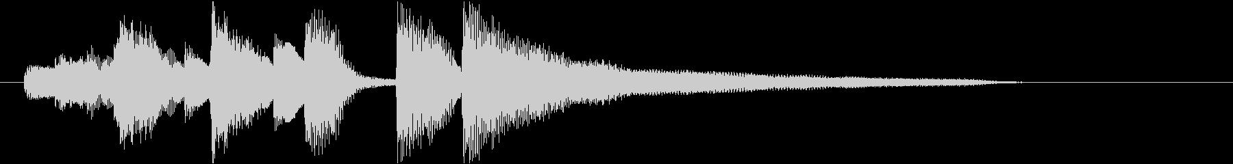 ピアノシングル ジャズの未再生の波形