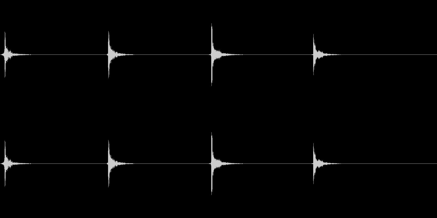 ドラムカウントの未再生の波形