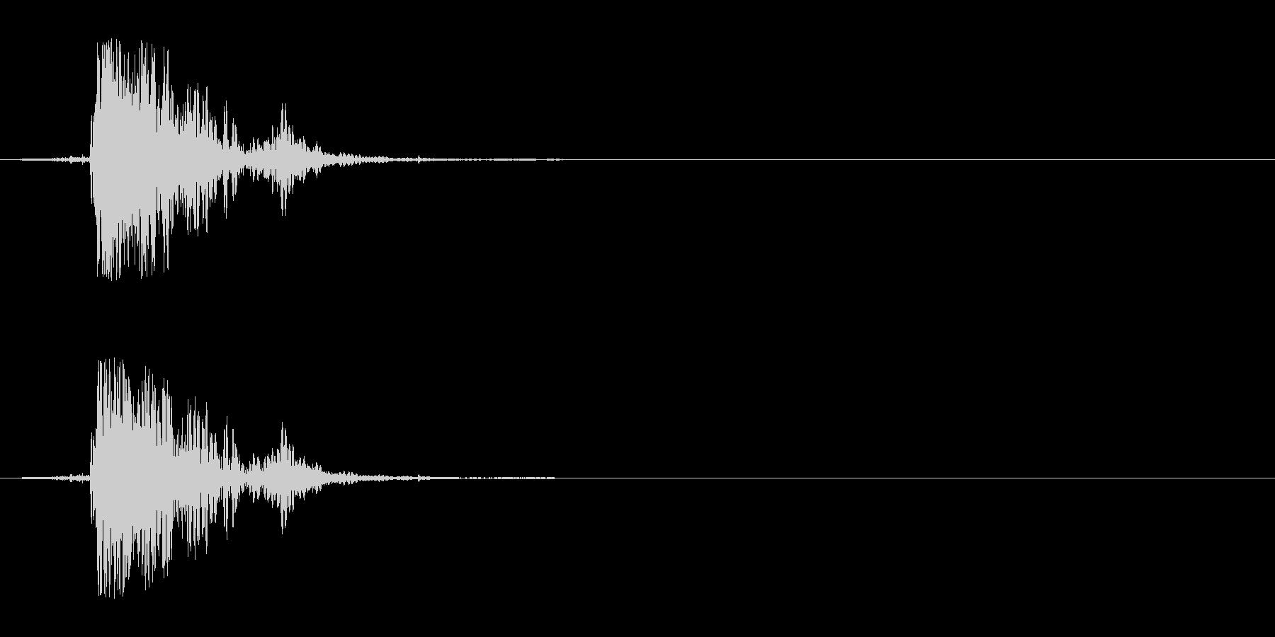 ペーパーヒットピクチャーブレイクの未再生の波形