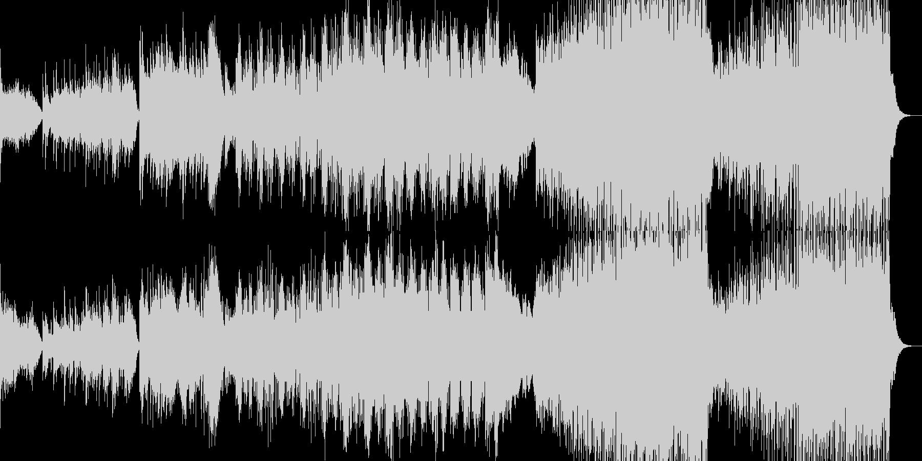 ポップバラード風イージーリスニングの未再生の波形