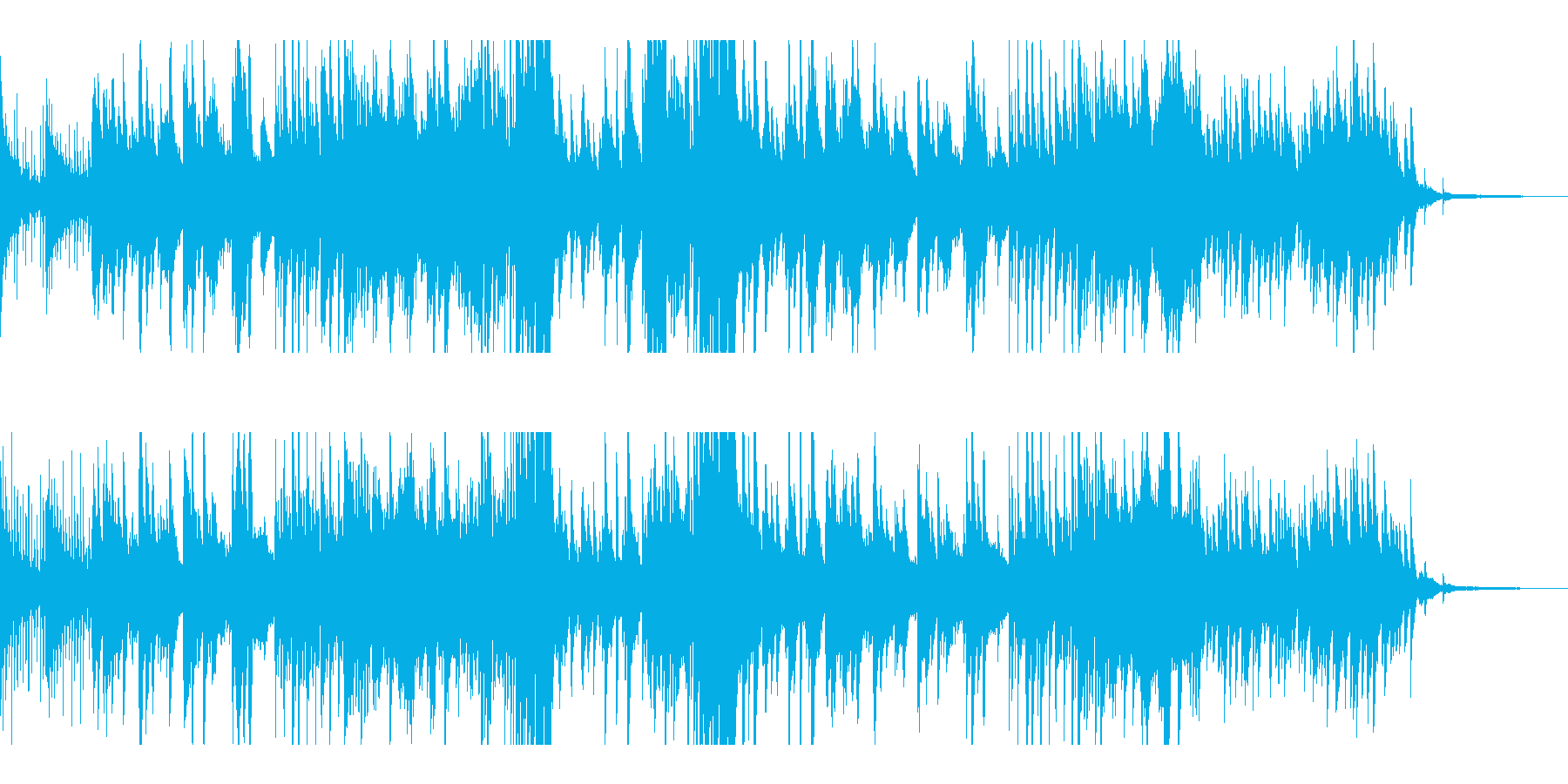 優しく温かいピアノソロの再生済みの波形