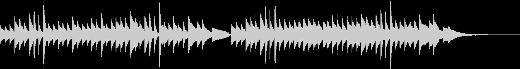 CM等に/日本らしいほのぼのするピアノの未再生の波形