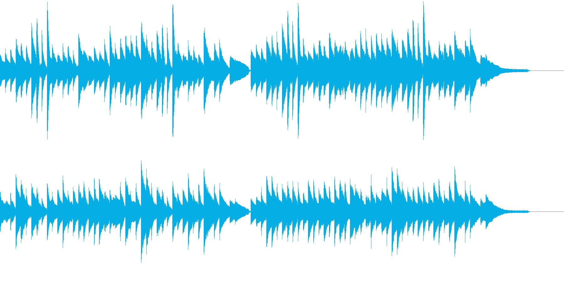 CM等に/日本らしいほのぼのするピアノの再生済みの波形