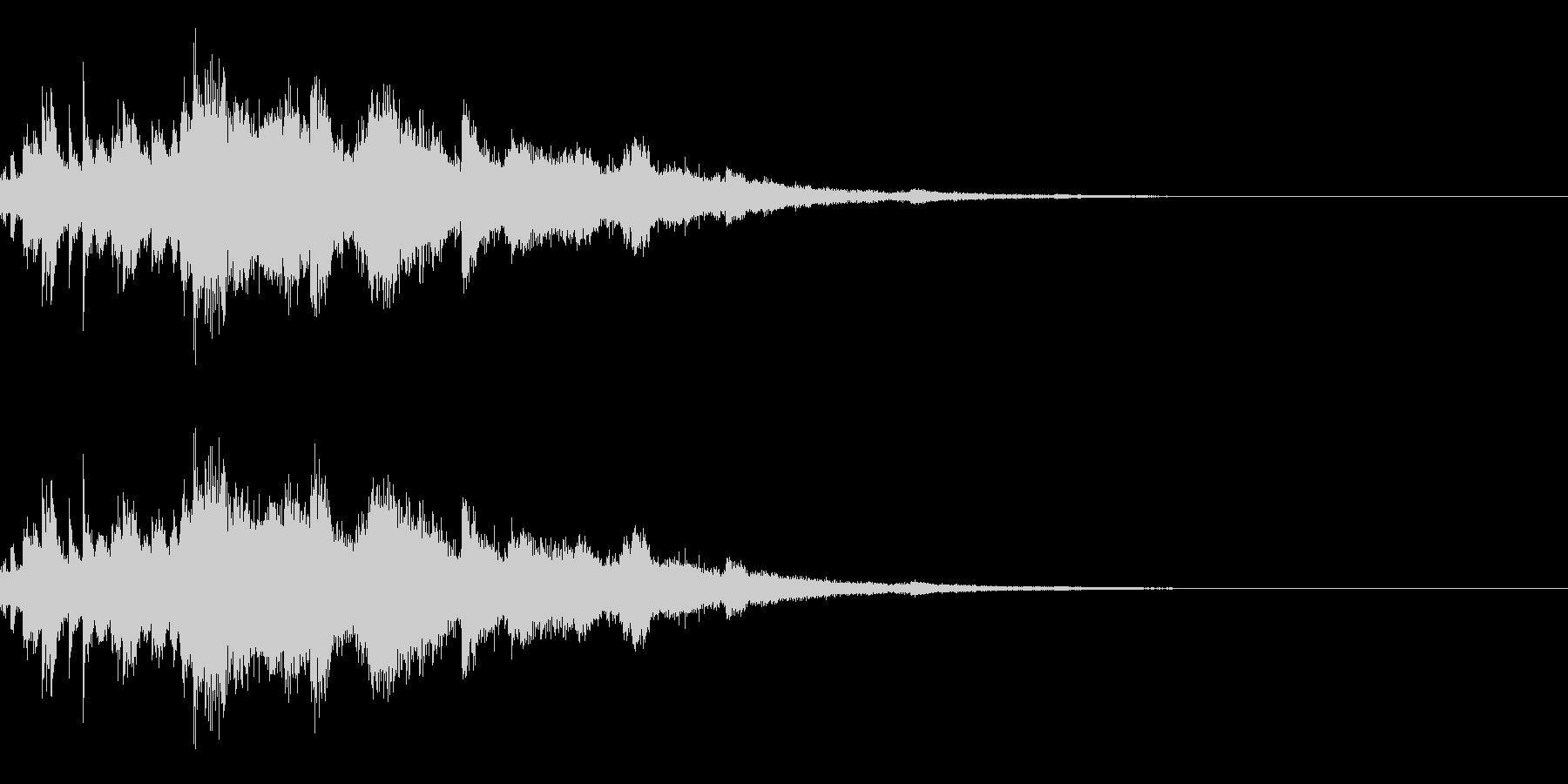 ウインドチャイム効果音の未再生の波形