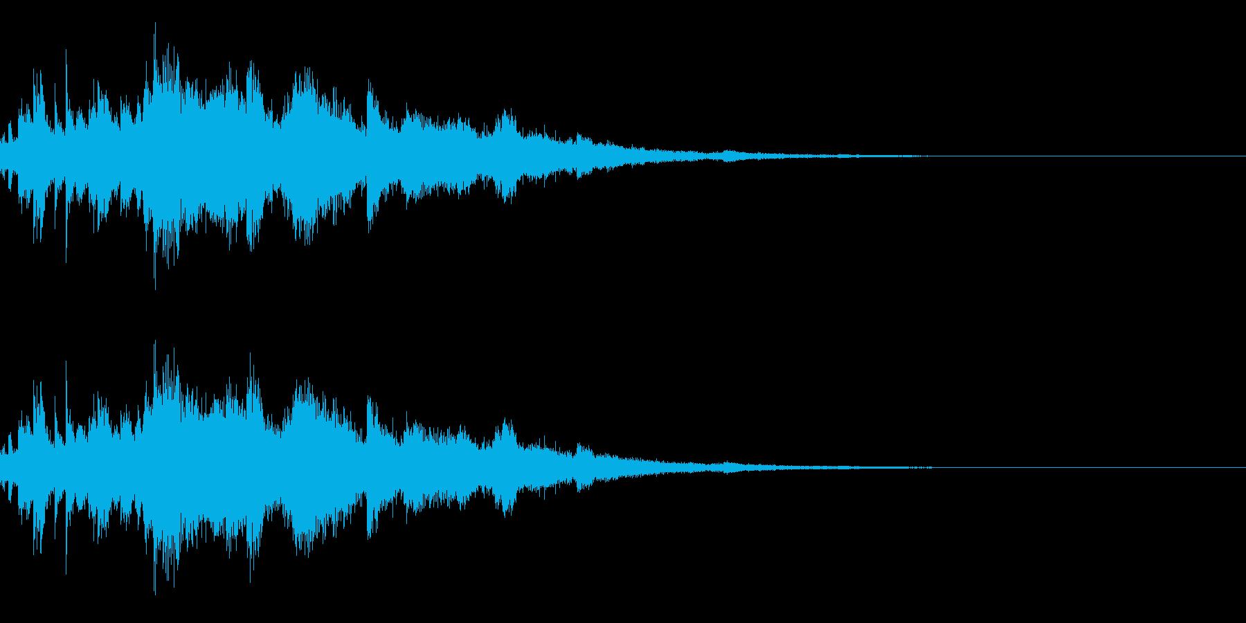 ウインドチャイム効果音の再生済みの波形