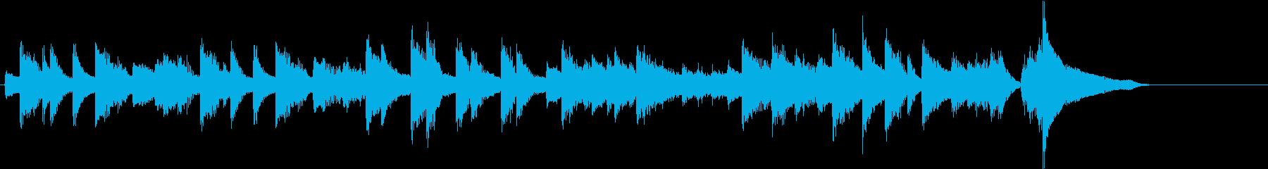 節分に!豆まきモチーフピアノジングルBの再生済みの波形