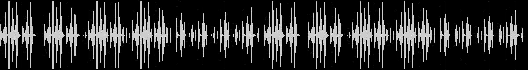 ほのぼのとしたシンキングタイムBGMの未再生の波形
