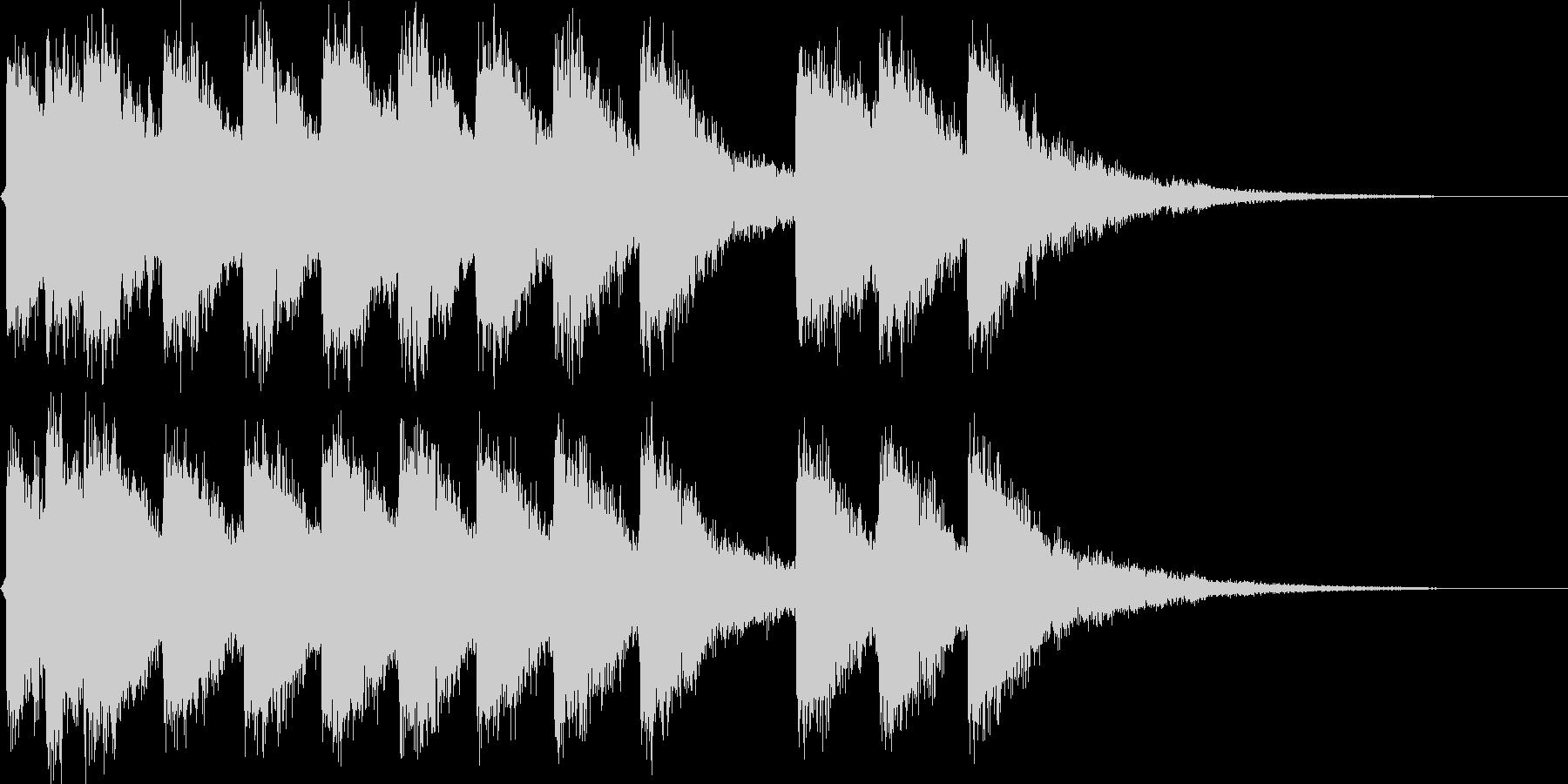 ネオアジアンロゴの未再生の波形