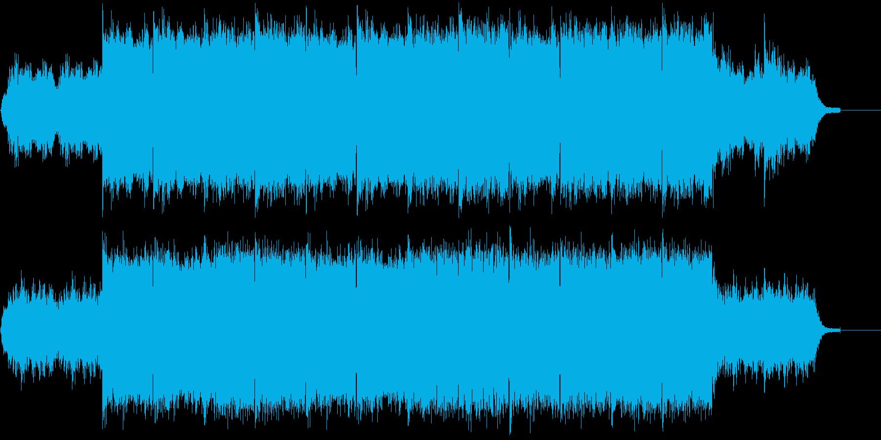 魔王の城をイメージした不気味で怖いBGMの再生済みの波形