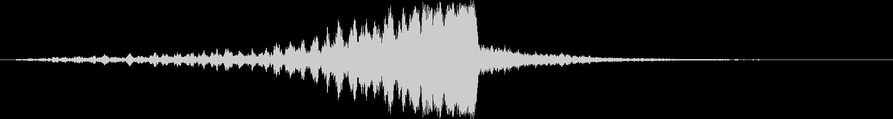 迫力の映画タイトルロゴ(シネマティック)の未再生の波形