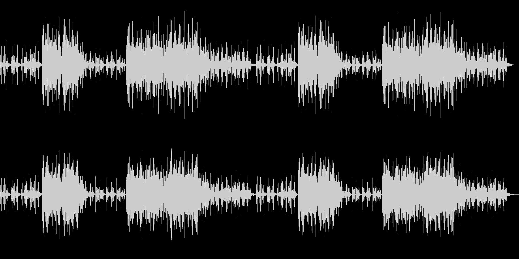 ノスタルジックで切ないピアノソロの未再生の波形