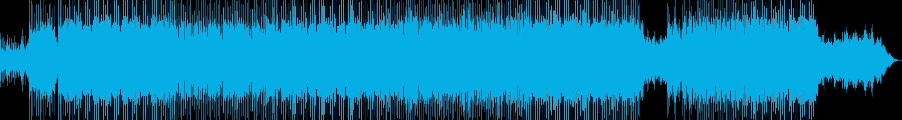 ピアノオルガンのキラキラ楽しいオーケストの再生済みの波形