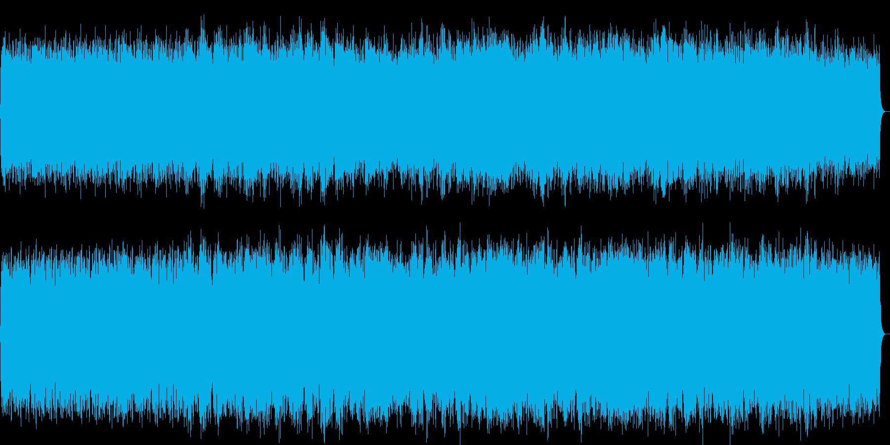 哀愁感のあるシンセパッドのヒーリング曲の再生済みの波形