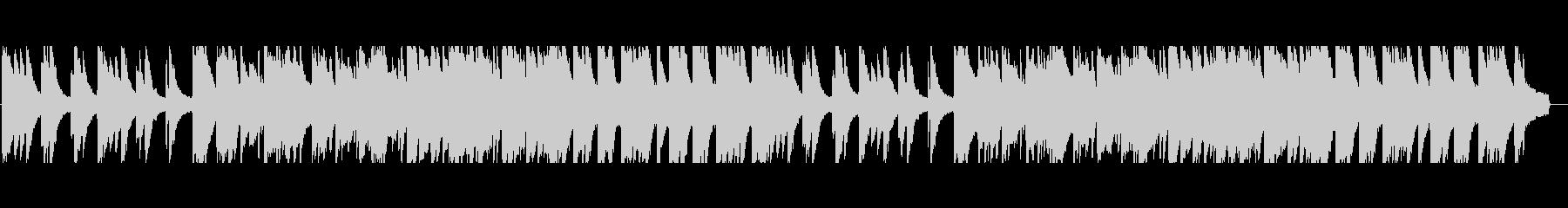 穏やかでノスタルジックなピアノバラードの未再生の波形