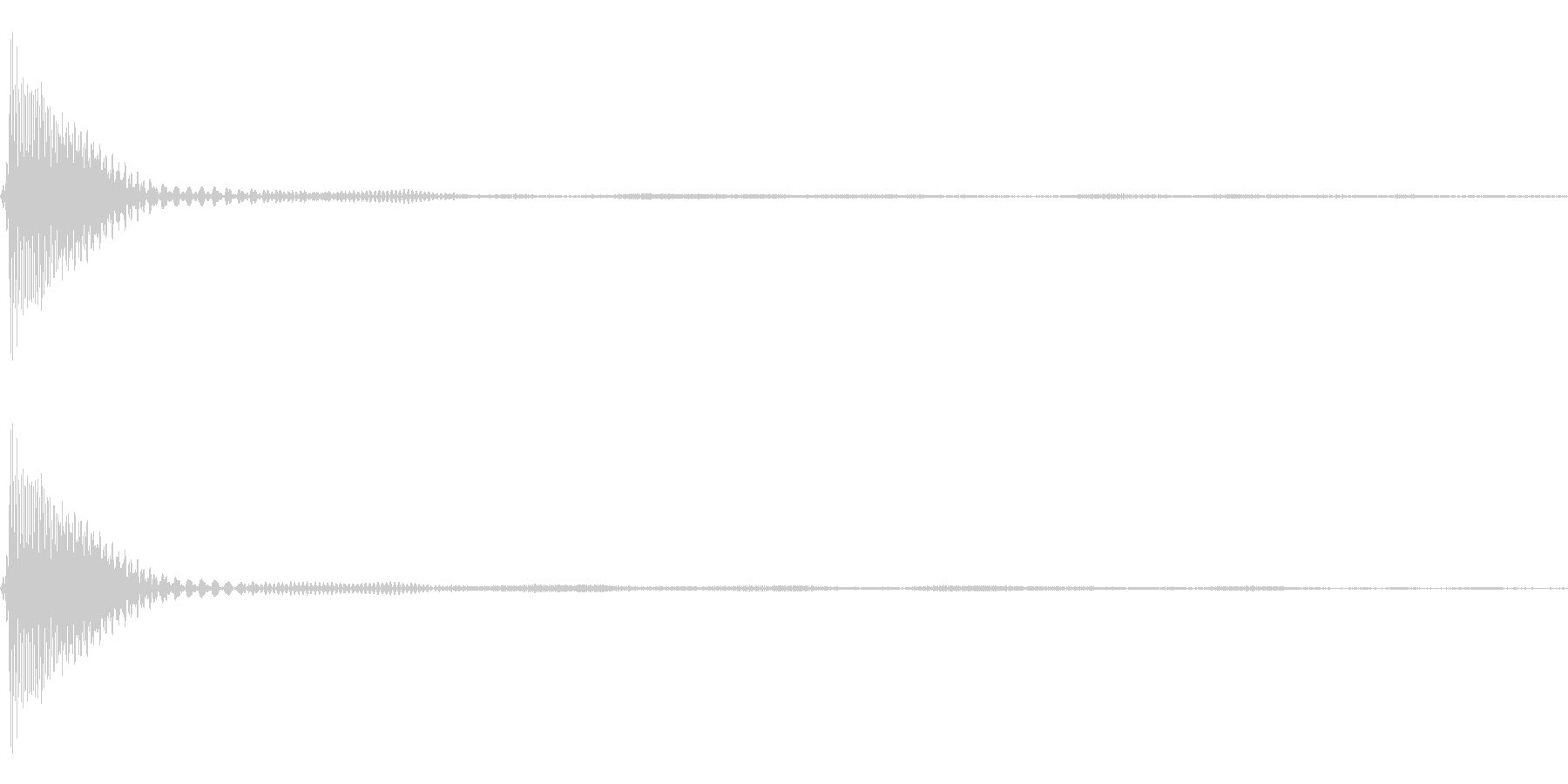 Count カウントダウン 単発音 1の未再生の波形
