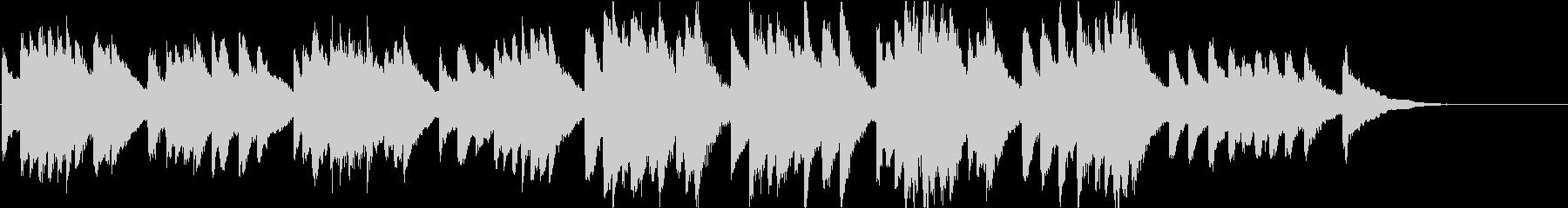 時報・チャイム風の名曲のメロディ・20の未再生の波形