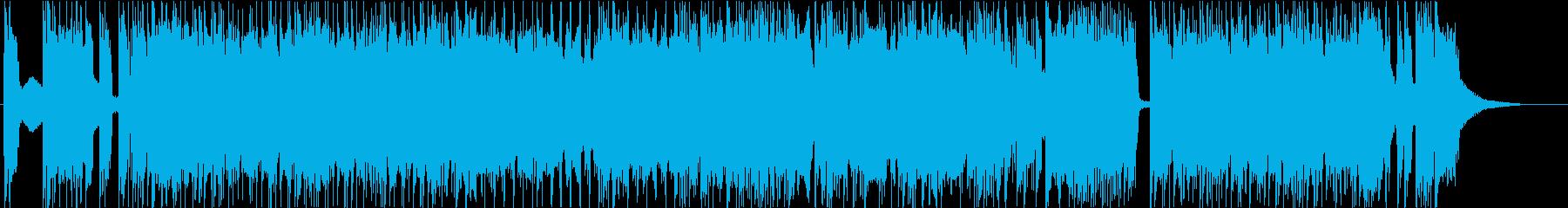 ダウンチューニングしたヘヴィ・ロックの再生済みの波形