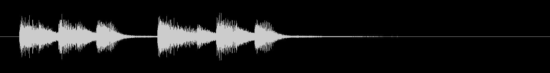 おしゃれコードのピアノジングルの未再生の波形