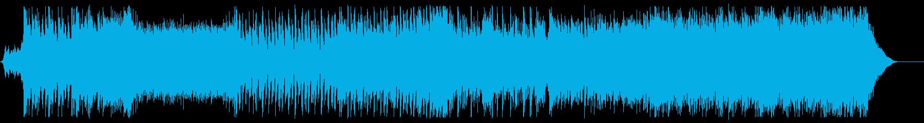 アクロバティックなアップテンポEDMの再生済みの波形