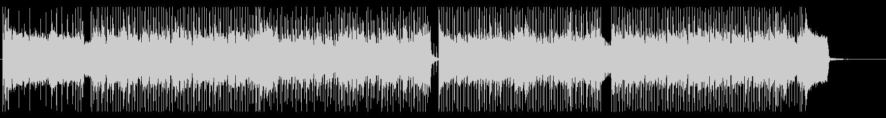 クレイジーなリズムのメタルリフBGMの未再生の波形