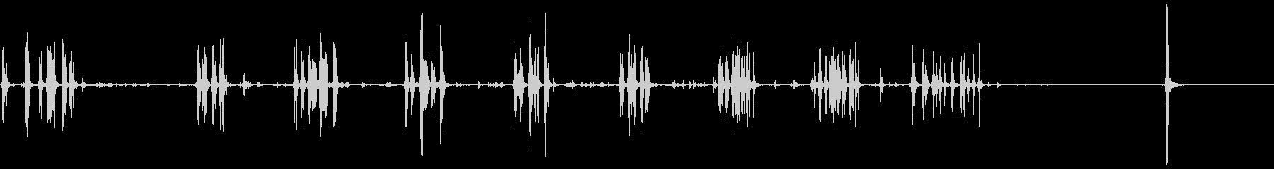 ビデオテープ、ローラーx2の未再生の波形