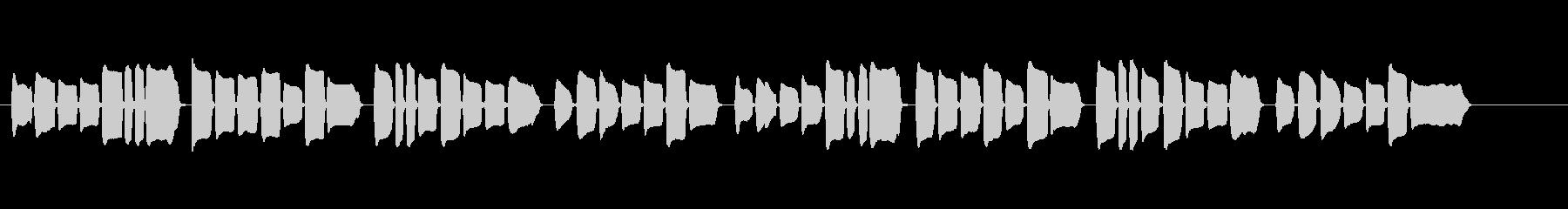 童謡「七夕さま」 リコーダー ソロの未再生の波形