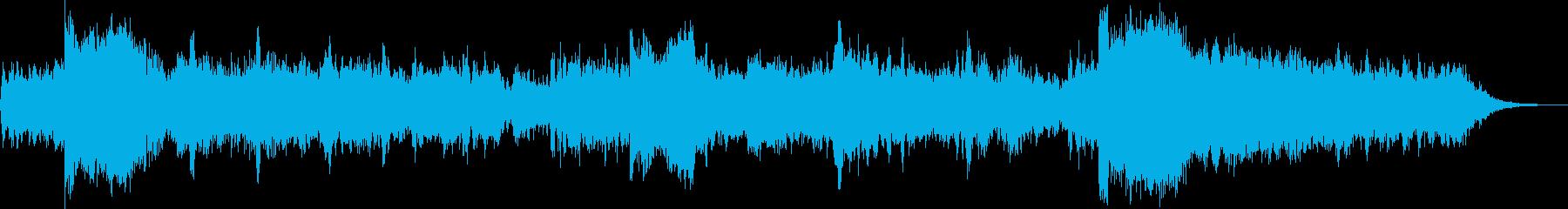 SF音を使ったホラー・宗教サウンドの再生済みの波形