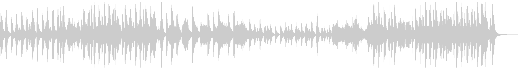 ブラックコミカル調のオーケストラ曲の未再生の波形