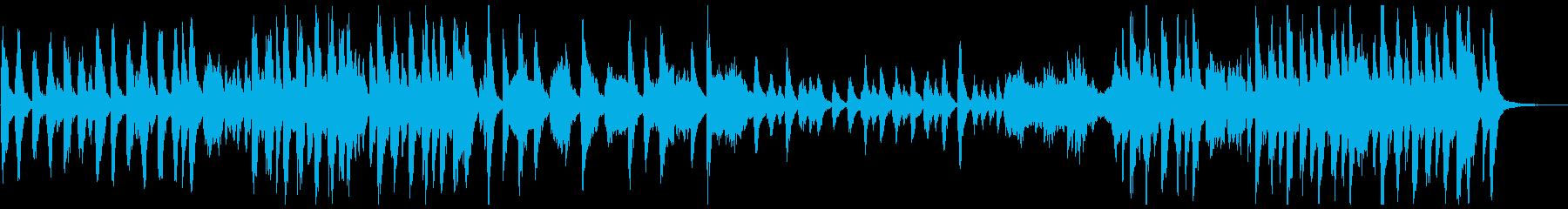 ブラックコミカル調のオーケストラ曲の再生済みの波形
