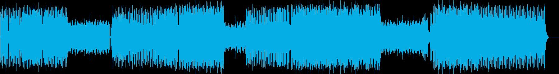 クールなシンセサウンド、4つ打ちの再生済みの波形