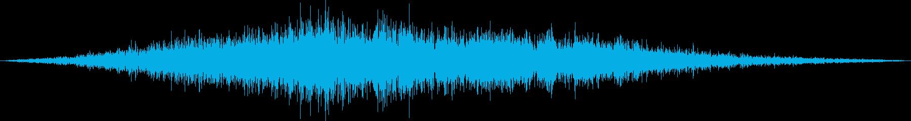 旅客機が滑走路に着陸(普通の旅客機)の再生済みの波形