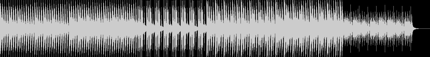 穏やかな雰囲気のピアノと4つ打ちの未再生の波形